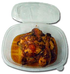 Envase de plástico para alimentación