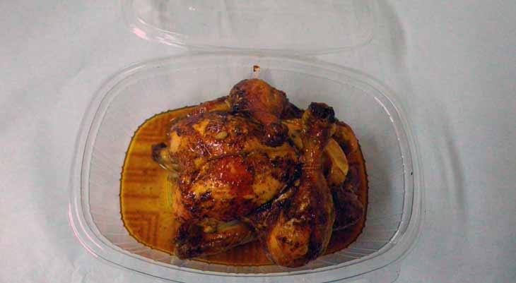 Tarrinas alimentación pollo