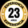 Sello 23 años experiencia