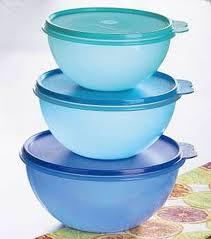 Tupperwares de plástico