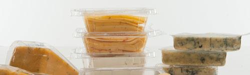 Bandejas de plástico para envasado de queso