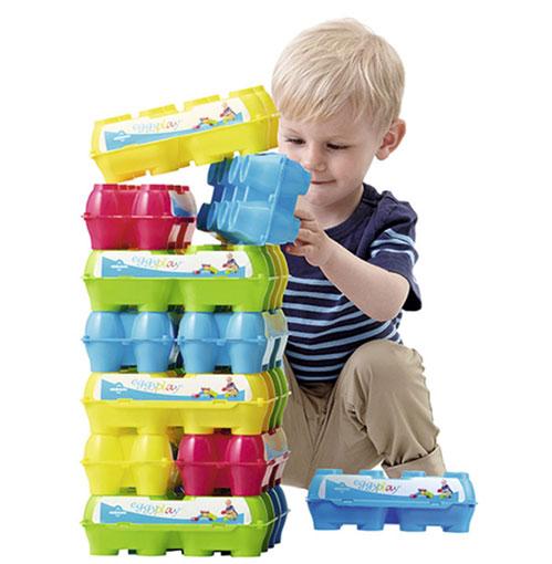 Eggplay jugar con envases para huevos