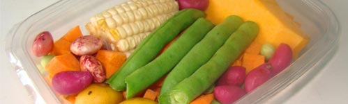 envases plástico frutas, verduras y hortalizas
