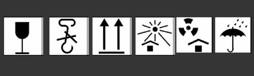 símbolos para el manejo, transporte y almacenamiento de mercancías